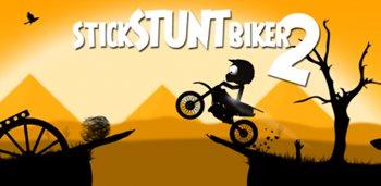 Взломанная Stick Stunt Biker 2 - потрясающая аркада